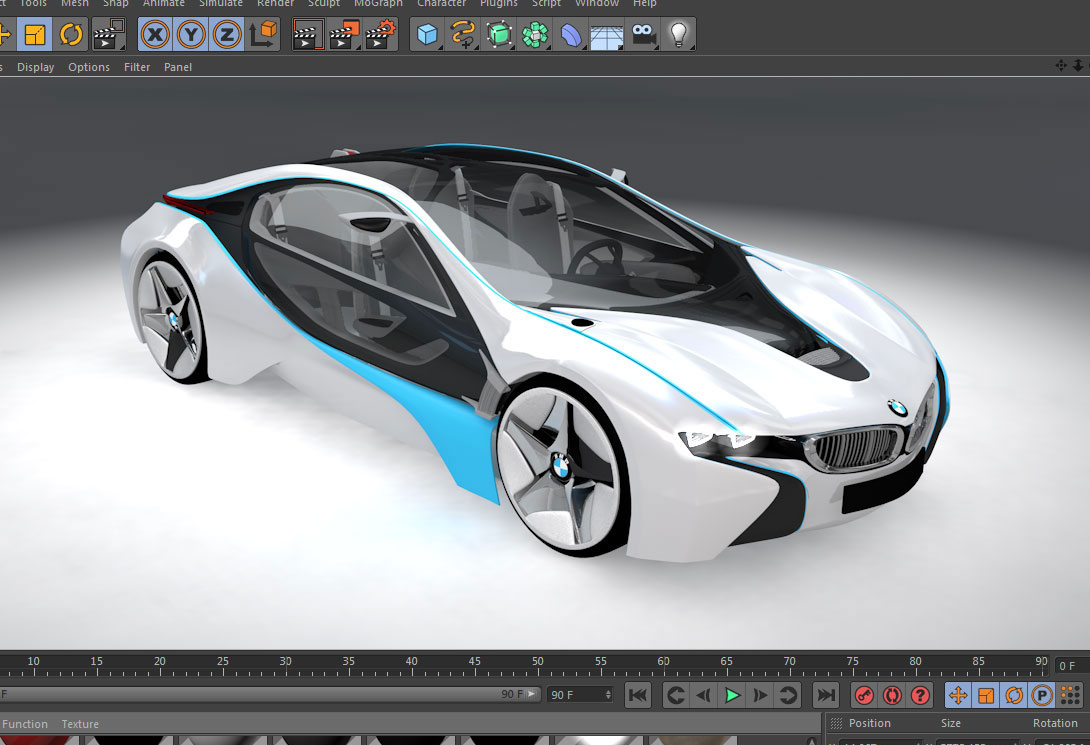 Bmw I8 Free 3d Model C4d 171 Cinema 4d Tutorials