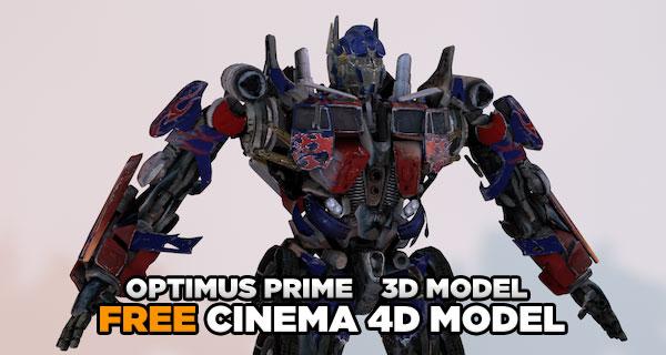 optimus prime free 3d model cinema 4d tutorials. Black Bedroom Furniture Sets. Home Design Ideas