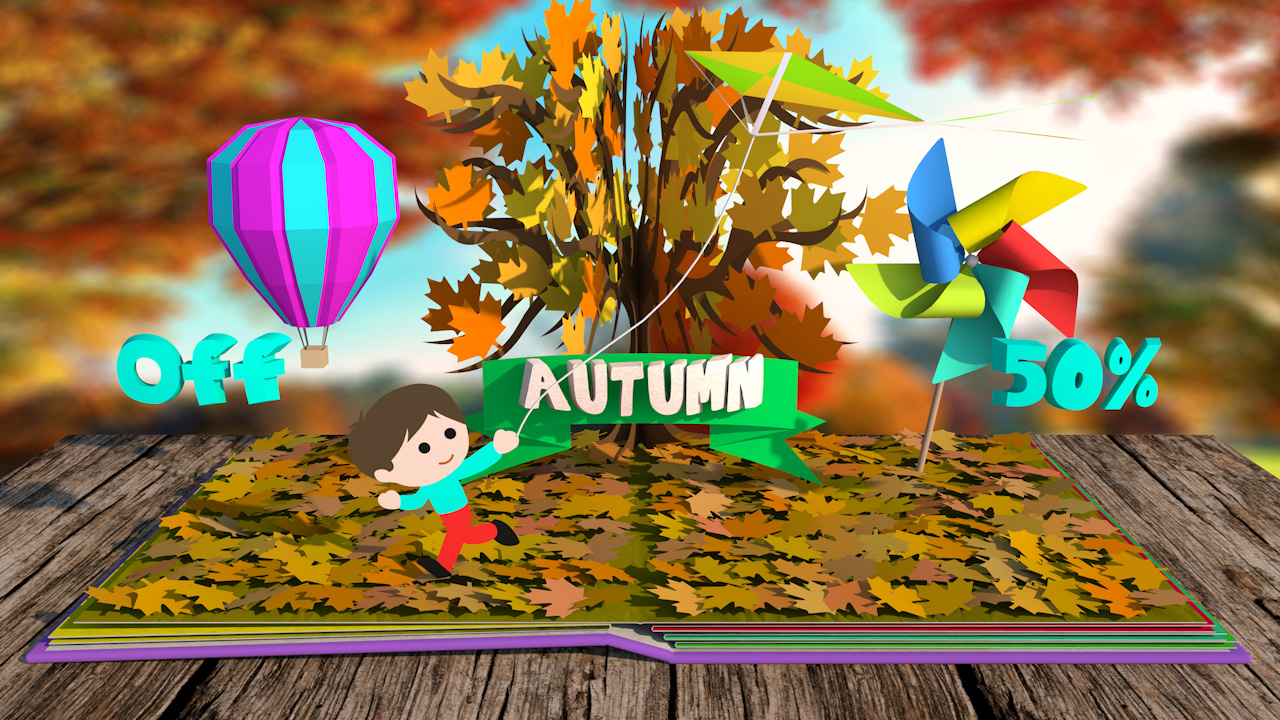seasons pop up book template cinema 4d tutorials
