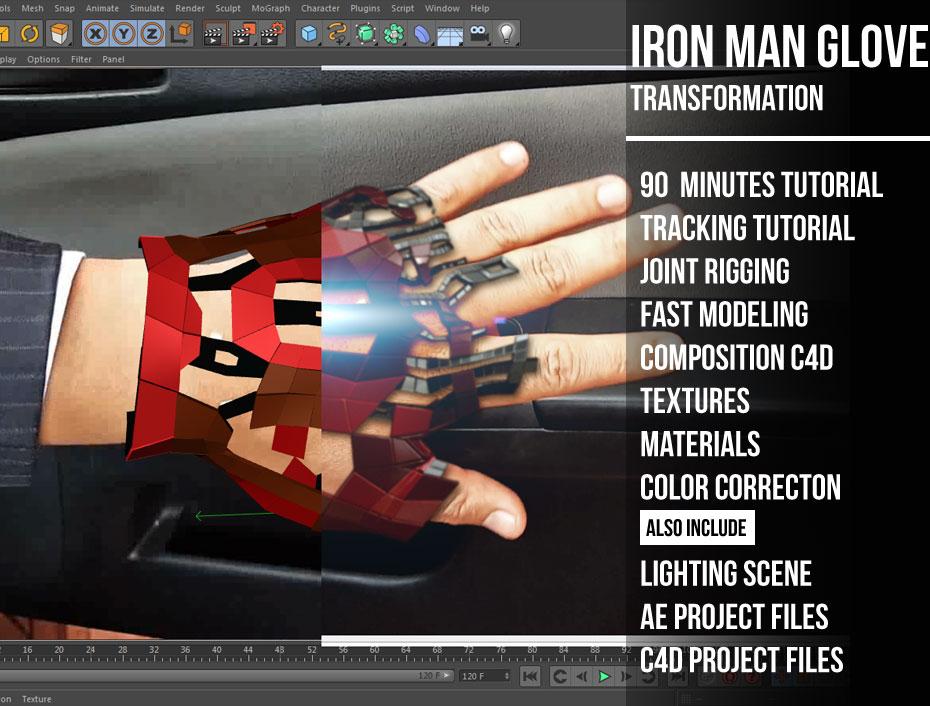 Iron man Glove tutorial « Cinema 4D Tutorials