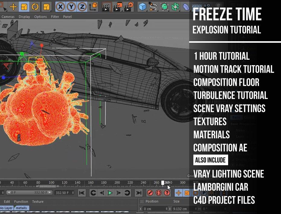 Freeze Time Explosion Cinema 4d « Cinema 4D Tutorials