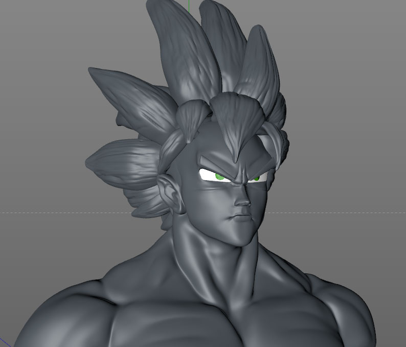 Goku sculpting tutorial cinema 4d tutorials goku the hero and protagonist is an alien from the saiyan race it is a worshiper of martial arts and along the numerous episodes of the series faces a maxwellsz