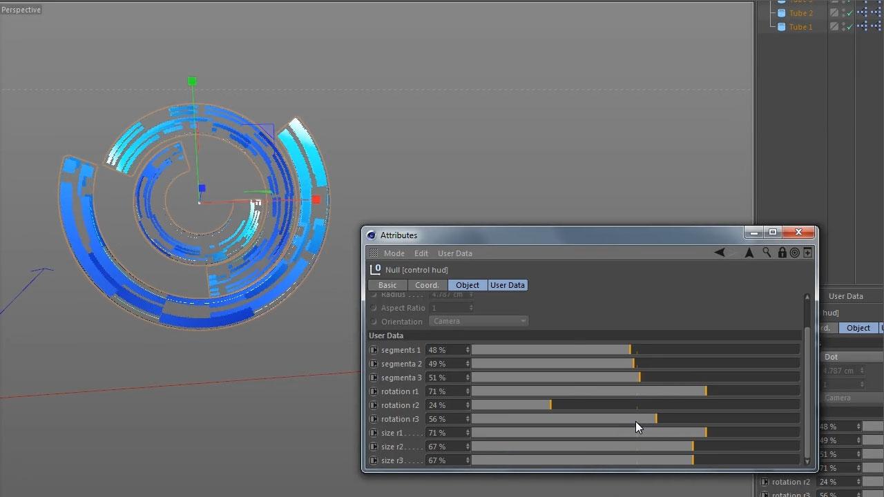 Info Graphs hud hologram 3d « Cinema 4D Tutorials