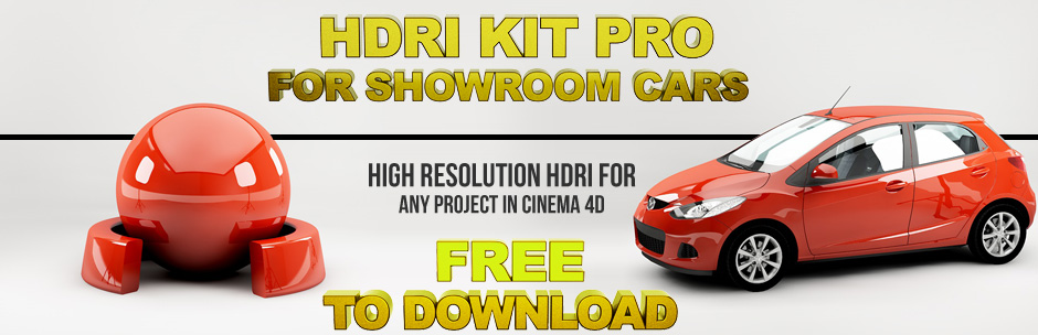 free hdri kit pro for car showroom « Cinema 4D Tutorials