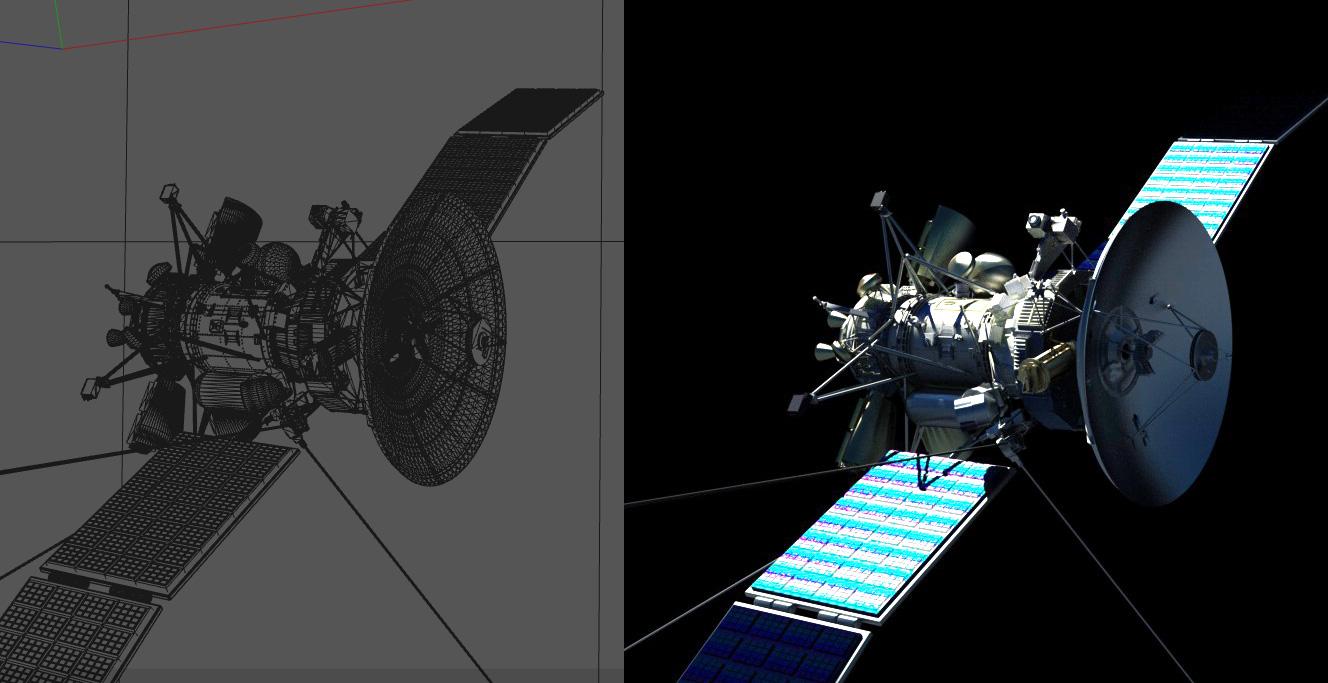 free satellite scene for visual effects « Cinema 4D Tutorials