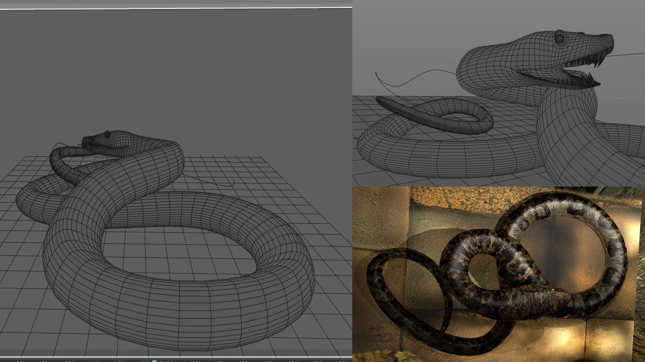 how to make an animated snake in cinema 4d « Cinema 4D Tutorials