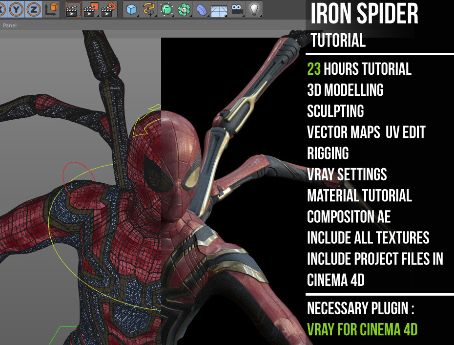 iron spider tutorial « Cinema 4D Tutorials