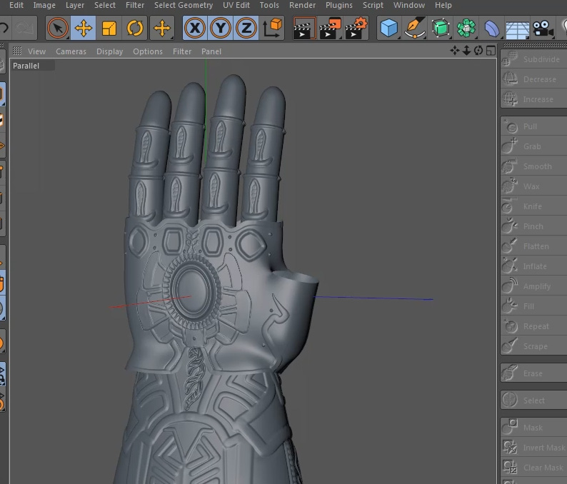 Thanos Gauntlet MODELING tutorial « Cinema 4D Tutorials